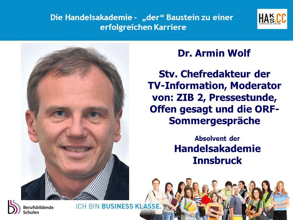 Stv. Chefredakteur der TV-Information, Moderator von: ZIB 2, Pressestunde, Offen gesagt und die ORF- Sommergespräche Absolvent der Handelsakademie Inn
