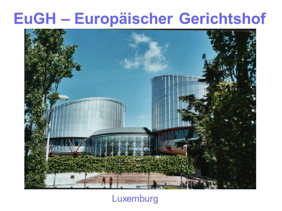 EuGH – Europäischer Gerichtshof Luxemburg