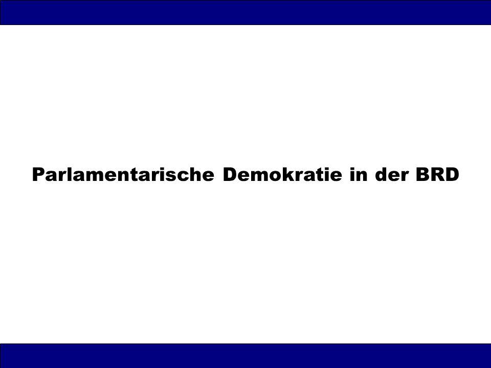 Parlamentarische Demokratie in der BRD