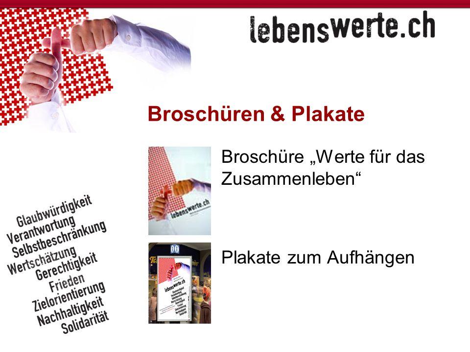 """Broschüren & Plakate Broschüre """"Werte für das Zusammenleben"""" Plakate zum Aufhängen"""