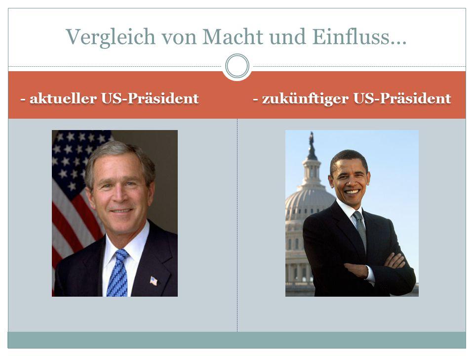 - aktueller US-Präsident - zukünftiger US-Präsident Vergleich von Macht und Einfluss…
