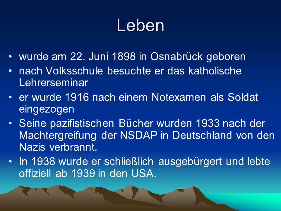 Leben wurde am 22. Juni 1898 in Osnabrück geboren nach Volksschule besuchte er das katholische Lehrerseminar er wurde 1916 nach einem Notexamen als So