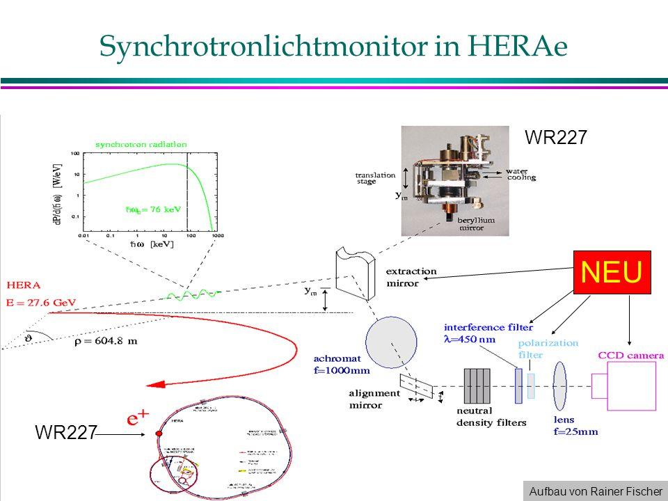 Synchrotronlichtmonitor in HERAe NEU WR227 Aufbau von Rainer Fischer WR227