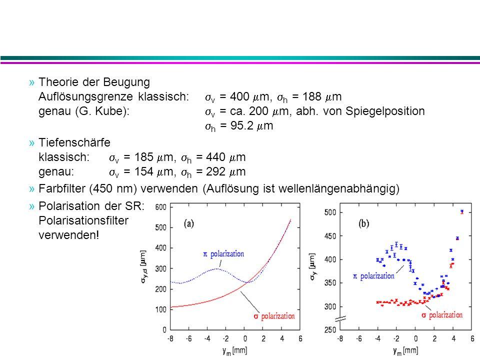 »Theorie der Beugung Auflösungsgrenze klassisch:  v = 400  m,  h = 188  m genau (G.