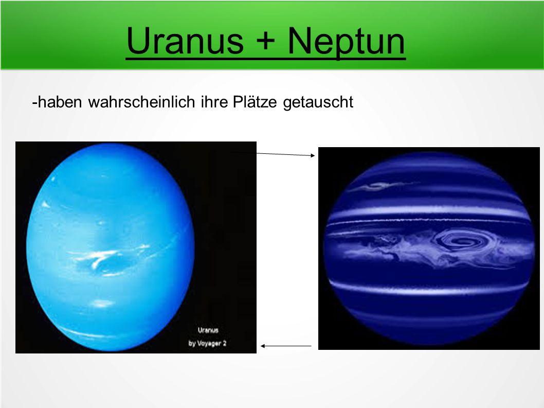 Uranus + Neptun -haben wahrscheinlich ihre Plätze getauscht