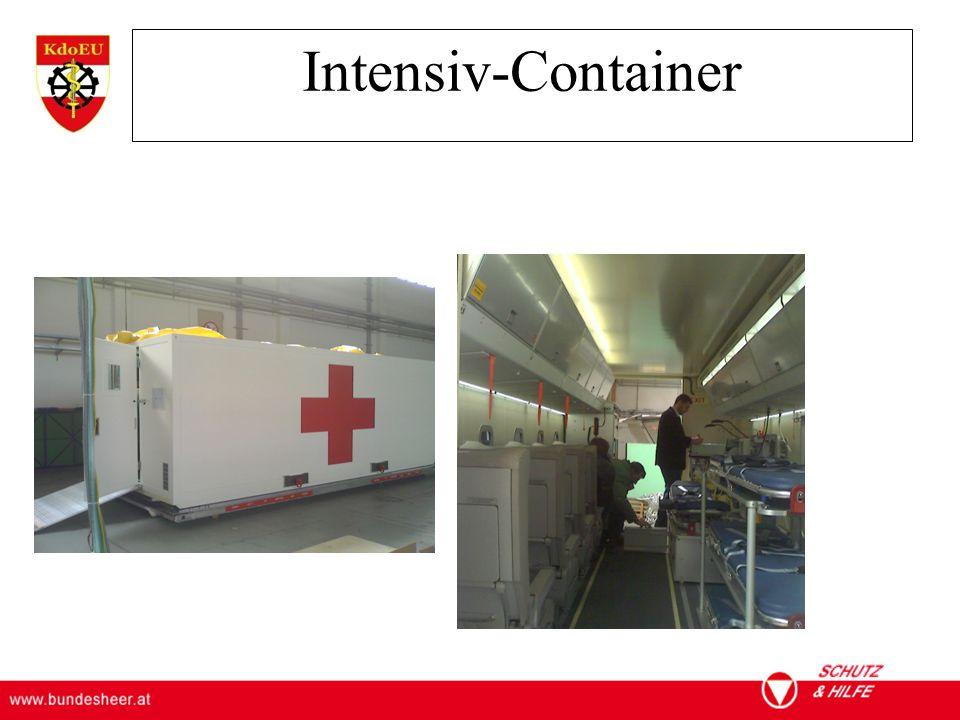 ÖSTERREICHISCHES BUNDESHEER KOMMANDO EINSATZUNTERSTÜTZUNG Militärisches Gesundheitswesen Intensiv-Container