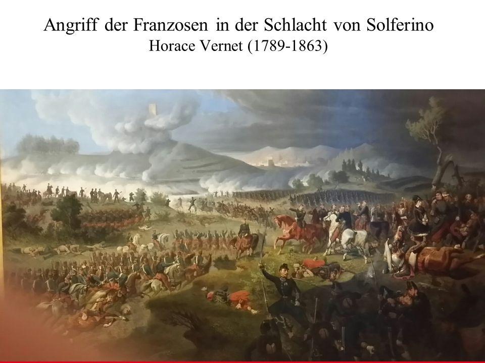 ÖSTERREICHISCHES BUNDESHEER KOMMANDO EINSATZUNTERSTÜTZUNG Militärisches Gesundheitswesen Angriff der Franzosen in der Schlacht von Solferino Horace Vernet (1789-1863)
