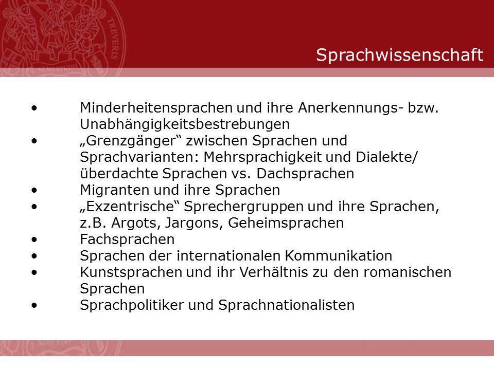 """Sprachwissenschaft Minderheitensprachen und ihre Anerkennungs- bzw. Unabhängigkeitsbestrebungen """"Grenzgänger"""" zwischen Sprachen und Sprachvarianten: M"""