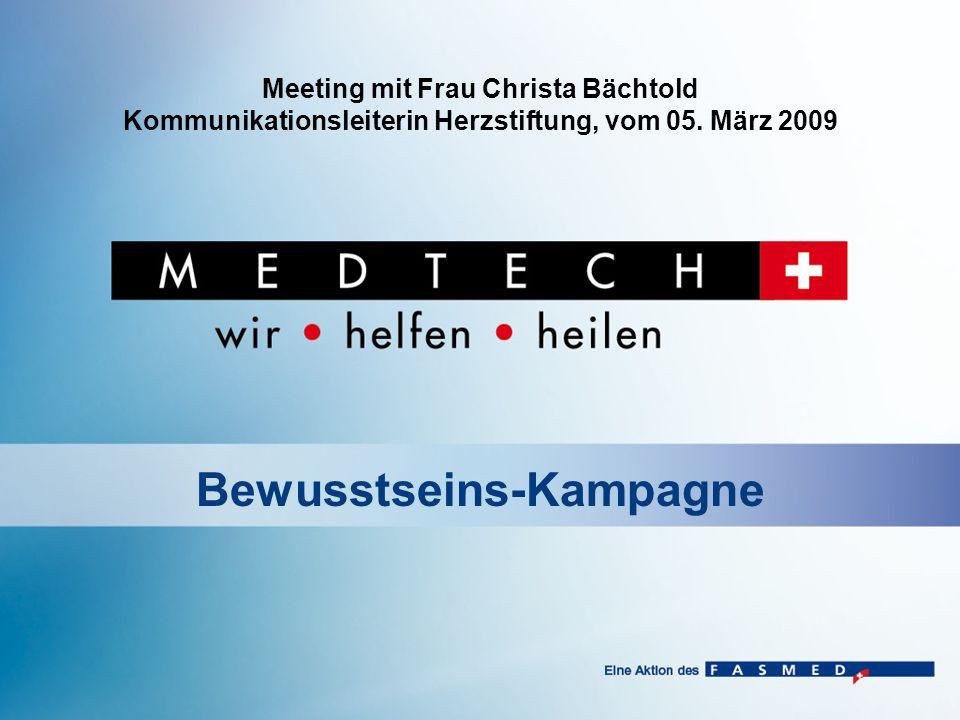 Meeting mit Frau Christa Bächtold Kommunikationsleiterin Herzstiftung, vom 05.