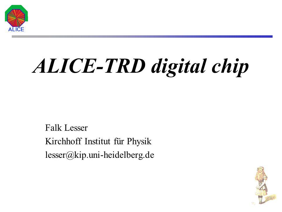2 Inhalt Ziele des ALICE-Experiments Das TRD-System Lineare Regression Implementierungsansätze Der Prozessorkern femtoJava 1 Projekt-Status