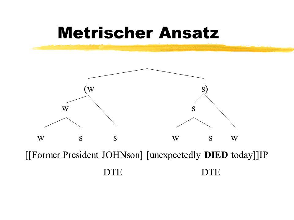 Metrischer Ansatz (ws) w s w ssw sw [[Former President JOHNson] [unexpectedly DIED today]]IP DTEDTE