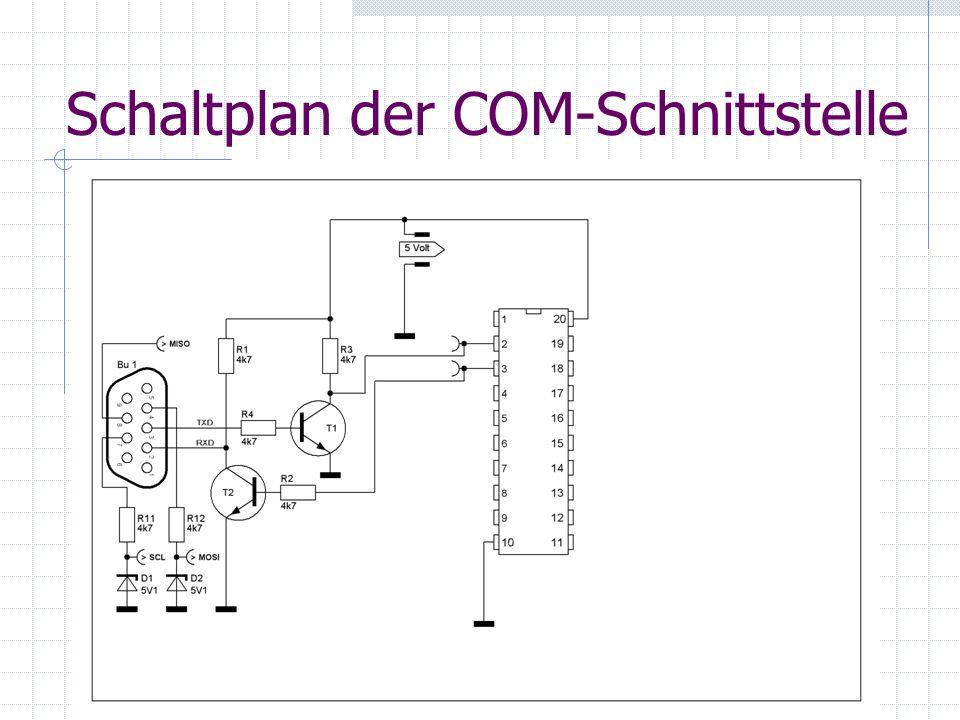 Schaltplan der COM-Schnittstelle