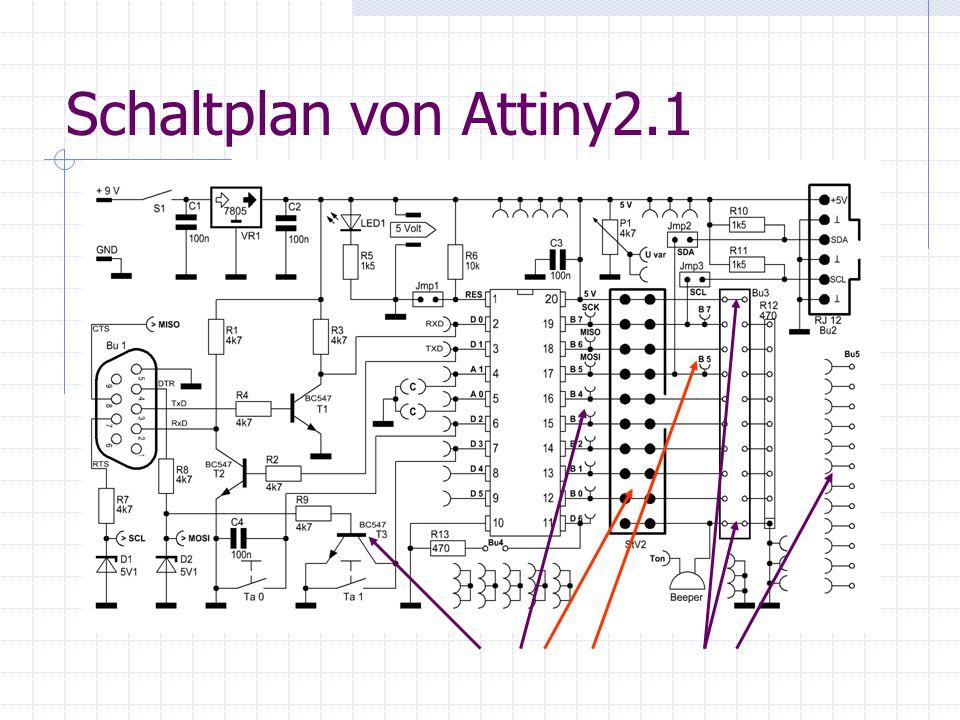 Schaltplan von Attiny2.1