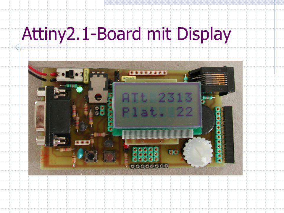 Attiny2.1-Board mit Display i2c