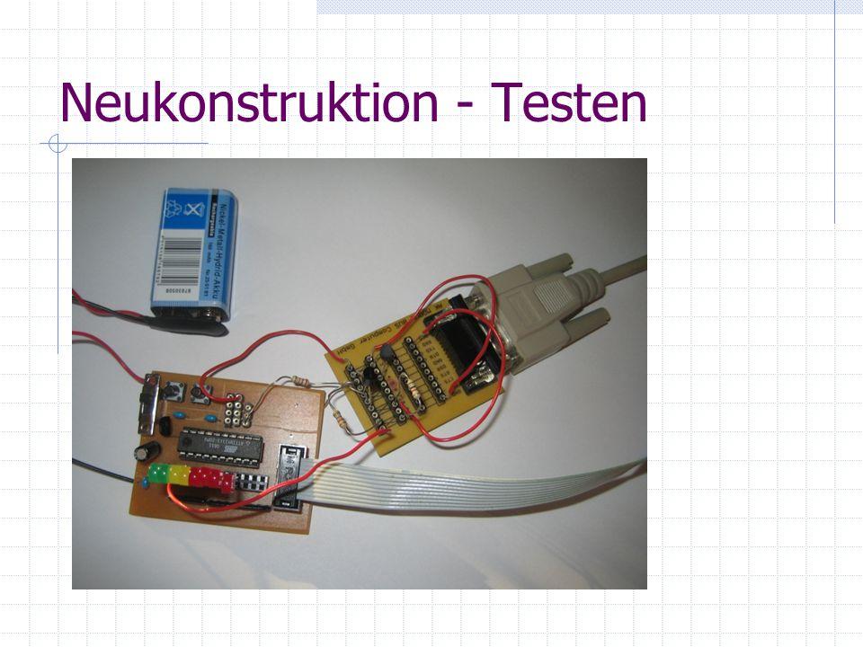 Neukonstruktion - Testen
