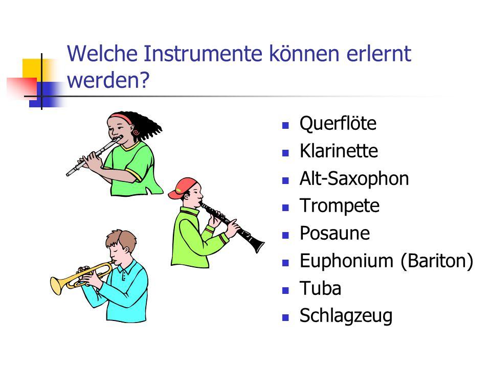 Zuordnung der Instrumente Zu Beginn des Schul- jahres werden die Instrumente von den Instrumentallehrern im Musikunterricht vorge- stellt.