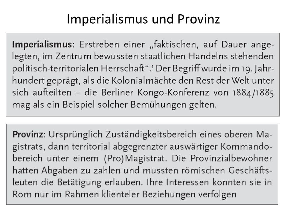 Imperialismus und Provinz