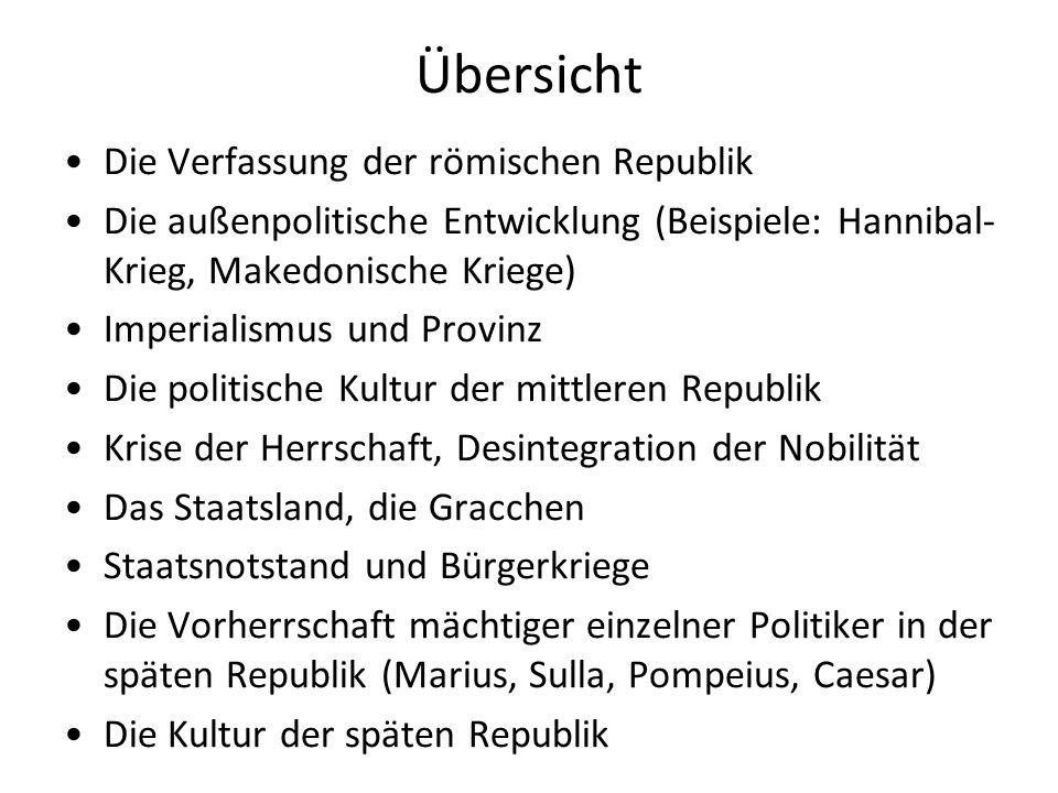 Die Verfassung der römischen Republik