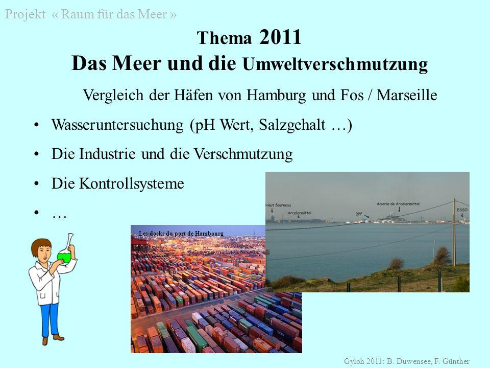 Projekt « Raum für das Meer » Gyloh 2011: B. Duwensee, F.