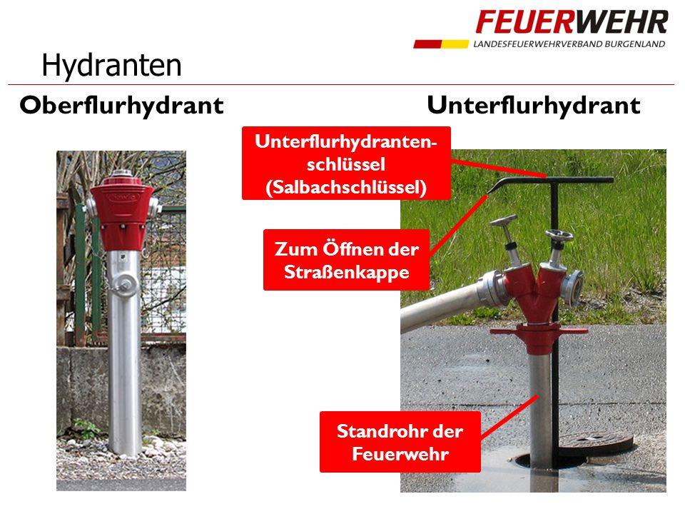 Hydranten OberflurhydrantUnterflurhydrant Standrohr der Feuerwehr Zum Öffnen der Straßenkappe Unterflurhydranten- schlüssel (Salbachschlüssel)