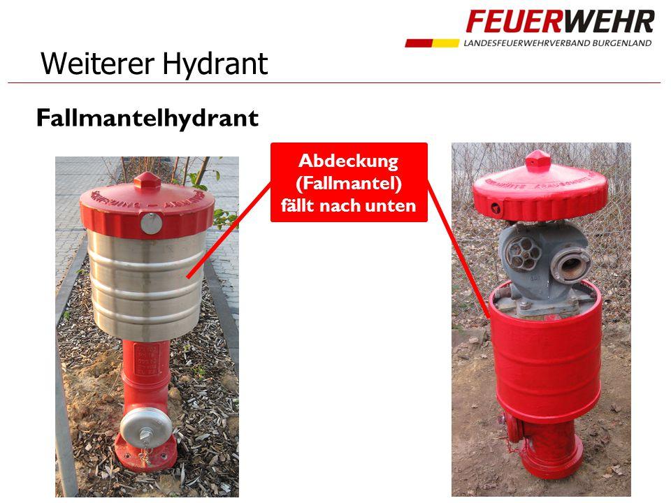 Weiterer Hydrant Fallmantelhydrant Abdeckung (Fallmantel) fällt nach unten