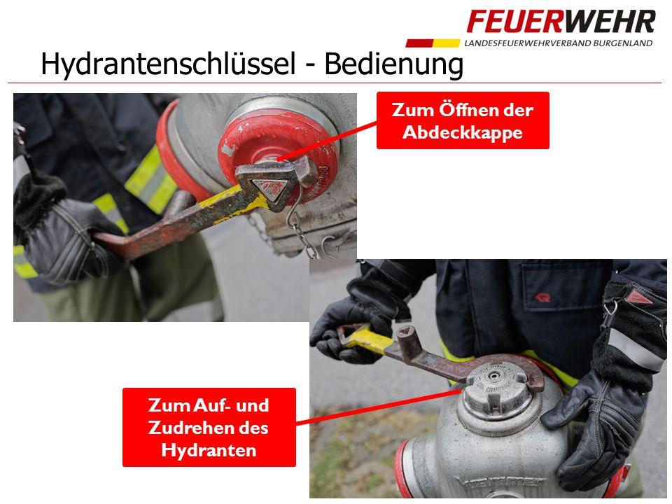 Hydrantenschlüssel - Bedienung Zum Auf- und Zudrehen des Hydranten Zum Öffnen der Abdeckkappe