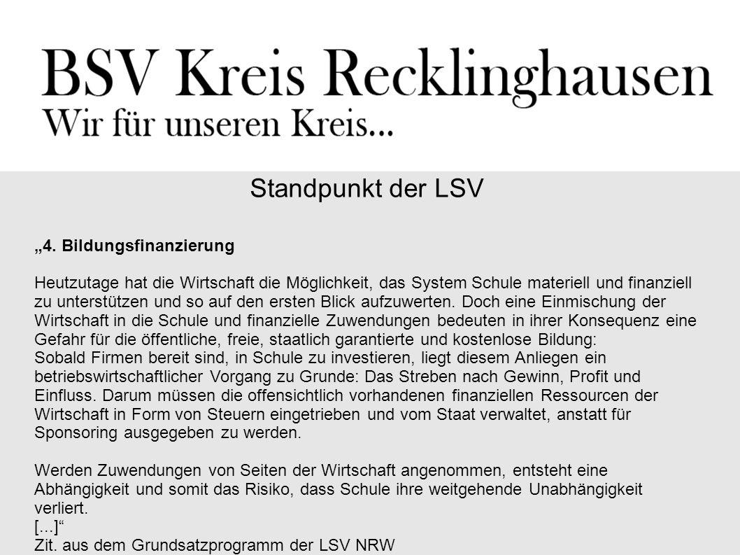 """Standpunkt der LSV """"4."""