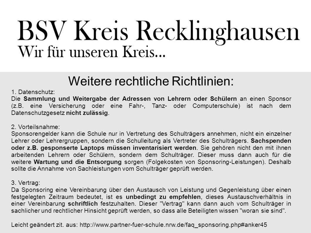 Beispiele Gesamtschule Eiserfeld Sehtests von Optikern Volksbank in Kirchhellen Kooperationen mit Bibliotheken und öffentlichen Einrichtungen Kooperation Heisenberg-Gymn.