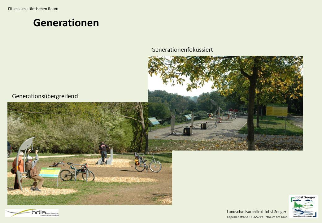 Landschaftsarchitekt Jobst Seeger Kapellenstraße 37 - 65719 Hofheim am Taunus Generationen Generationenfokussiert Generationsübergreifend Fitness im s