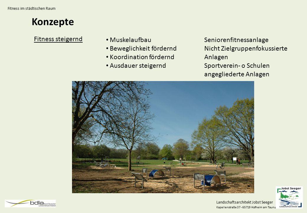Landschaftsarchitekt Jobst Seeger Kapellenstraße 37 - 65719 Hofheim am Taunus Konzepte Fitness steigernd Muskelaufbau Beweglichkeit fördernd Koordinat