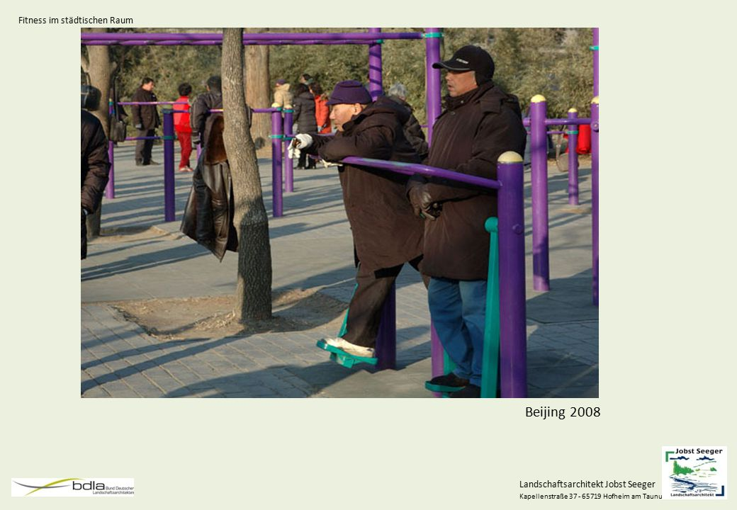 Landschaftsarchitekt Jobst Seeger Kapellenstraße 37 - 65719 Hofheim am Taunus Projektbeispiel Fitness im Niddapark Fitness im städtischen Raum