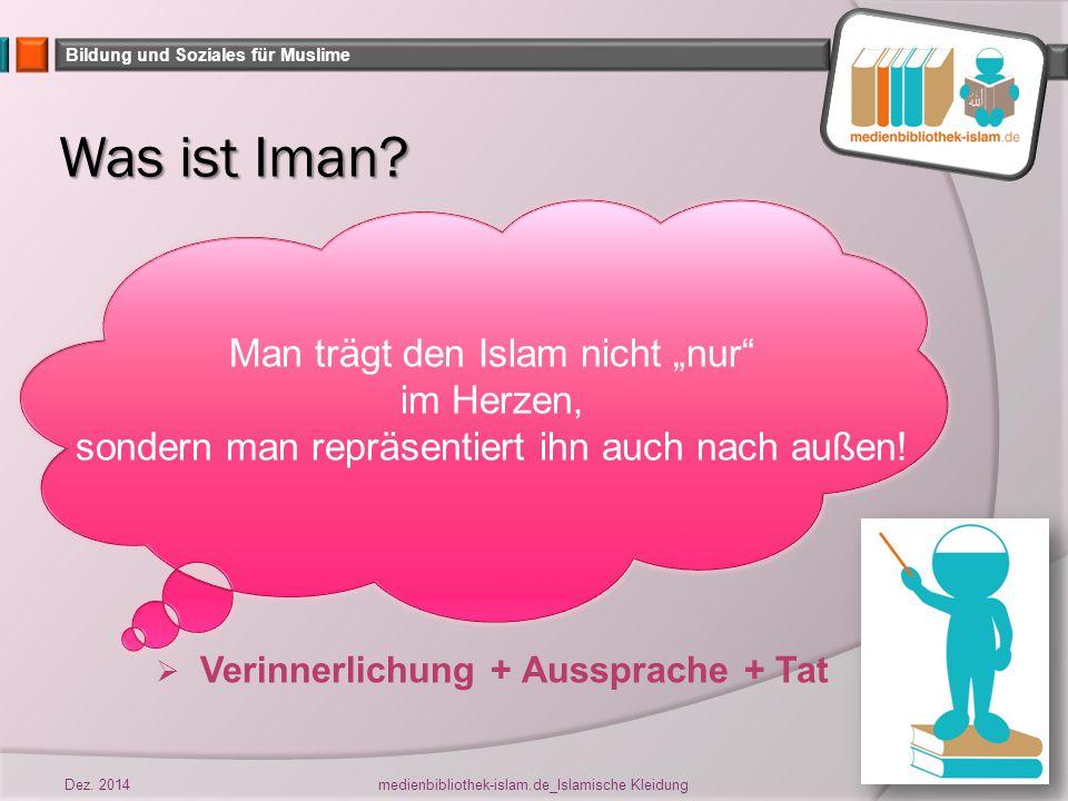 Bildung und Soziales für Muslime Für wen lebst Du.