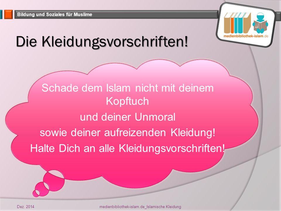 Bildung und Soziales für Muslime Weswegen bist Du dafür noch nicht bereit.