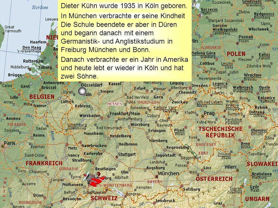 Dieter Kühn wurde 1935 in Köln geboren. In München verbrachte er seine Kindheit Die Schule beendete er aber in Düren und begann danach mit einem Germa