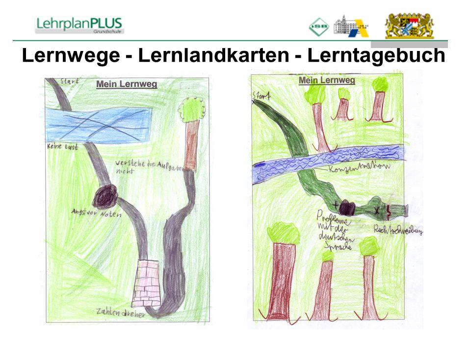 Lernwege - Lernlandkarten - Lerntagebuch