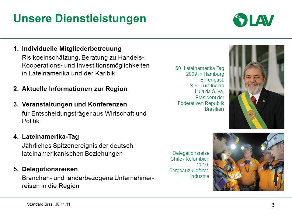 Standard Bras.30.11.11  Alle Industriezweige - auch im Hightech-Bereich - vertreten  Nr.
