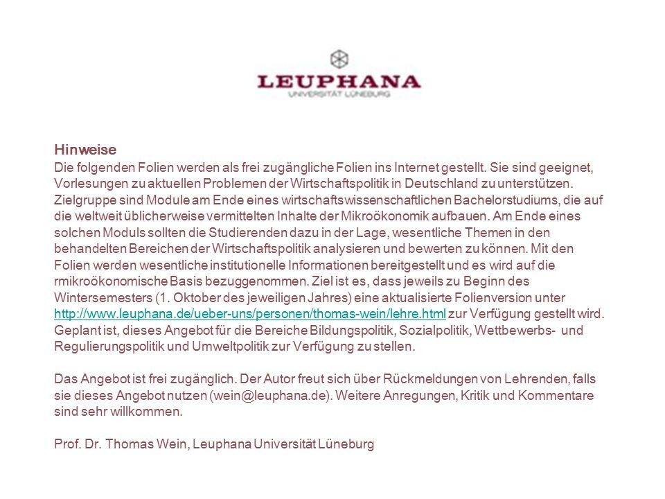 Prof. Dr. Thomas Wein, WIPO 12 Kapitel 5 Sozialpolitik Problemstellung