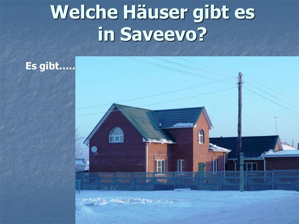 Welche Häuser gibt es in Saveevo? Es gibt…..