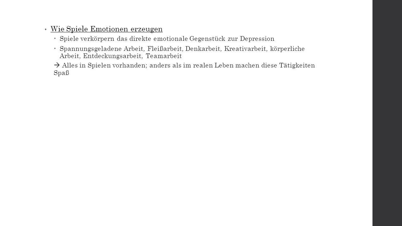 Kapitel 2 – Der Aufstieg der Glücksproduzenten Fix #2: Emotional Activation: Compared with games, reality is depressing.