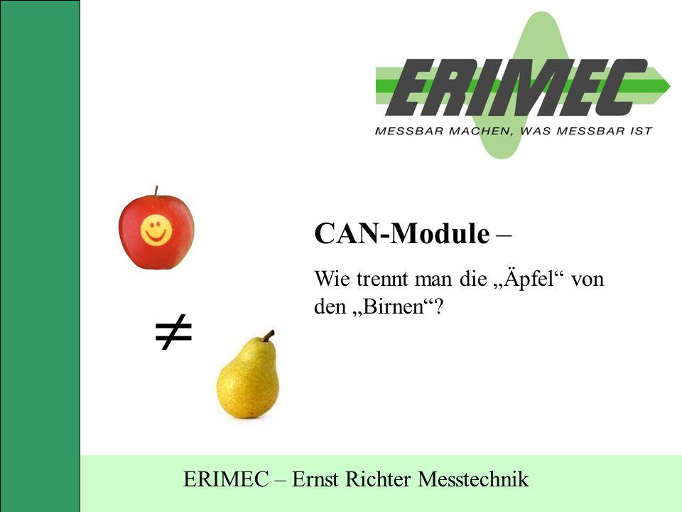 """CAN-Module – Wie trennt man die """"Äpfel"""" von den """"Birnen""""?  ERIMEC – Ernst Richter Messtechnik"""