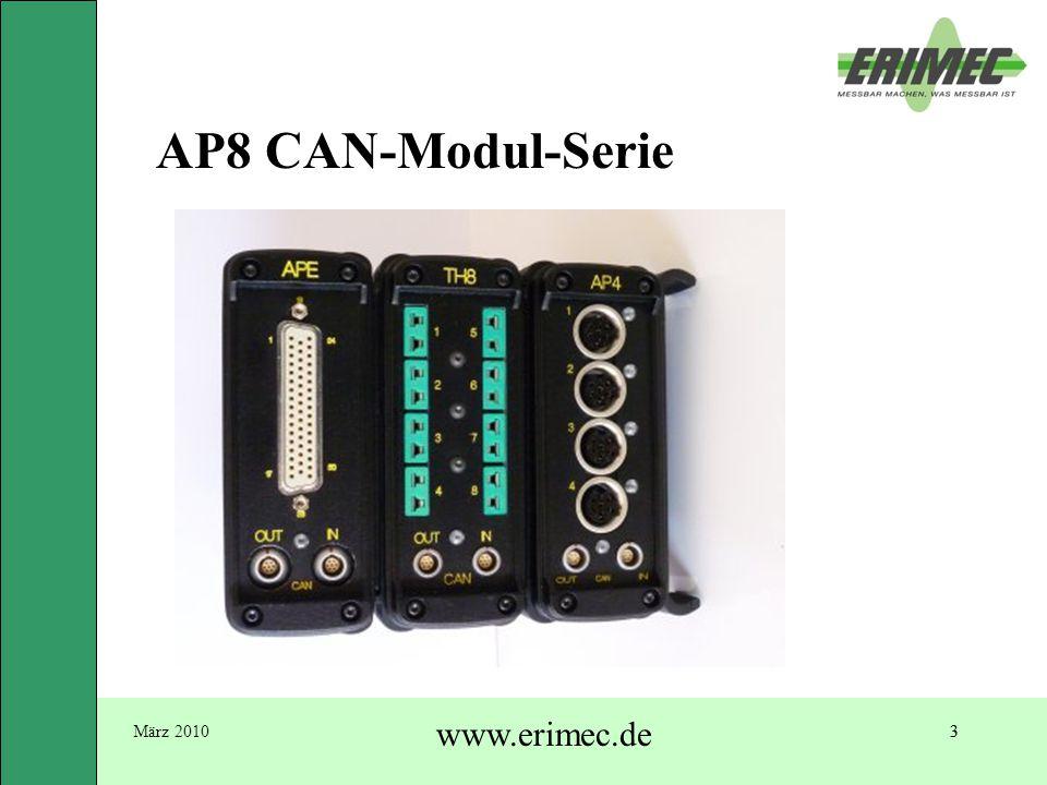3März 2010 www.erimec.de 3 AP8 CAN-Modul-Serie