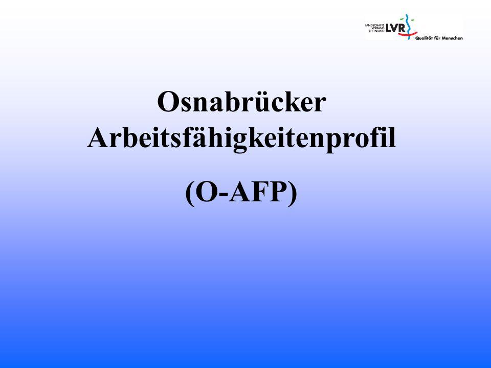 Osnabrücker Arbeitsfähigkeitenprofil (O-AFP)