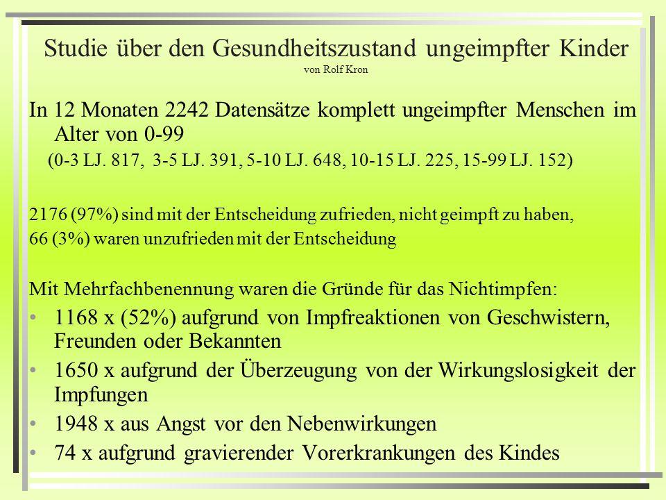 Cortiel Elternstudie in Salzburg 2001-05 Von insgesamt 820 Kindern (Heute wohl schon über 1500 erfasste Kinder) Hatte keines Asthma (0%) 33 Neurodermi