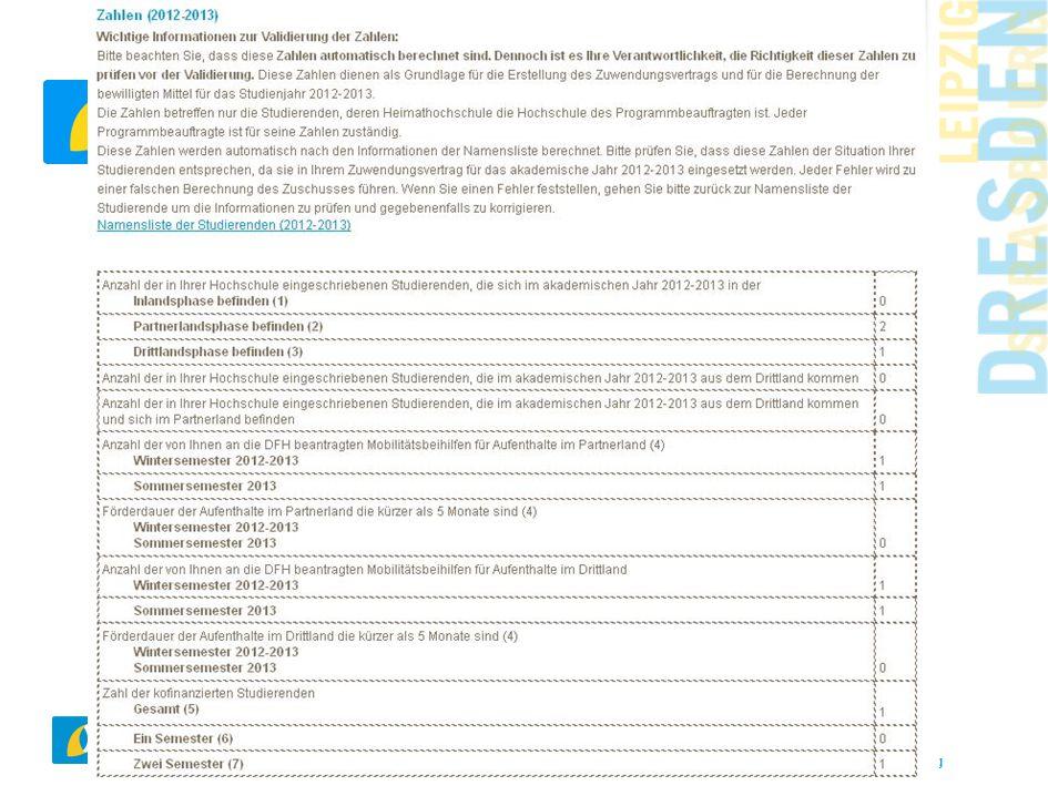 www.dfh-ufa.org Namensliste der Studierenden und Zahlen
