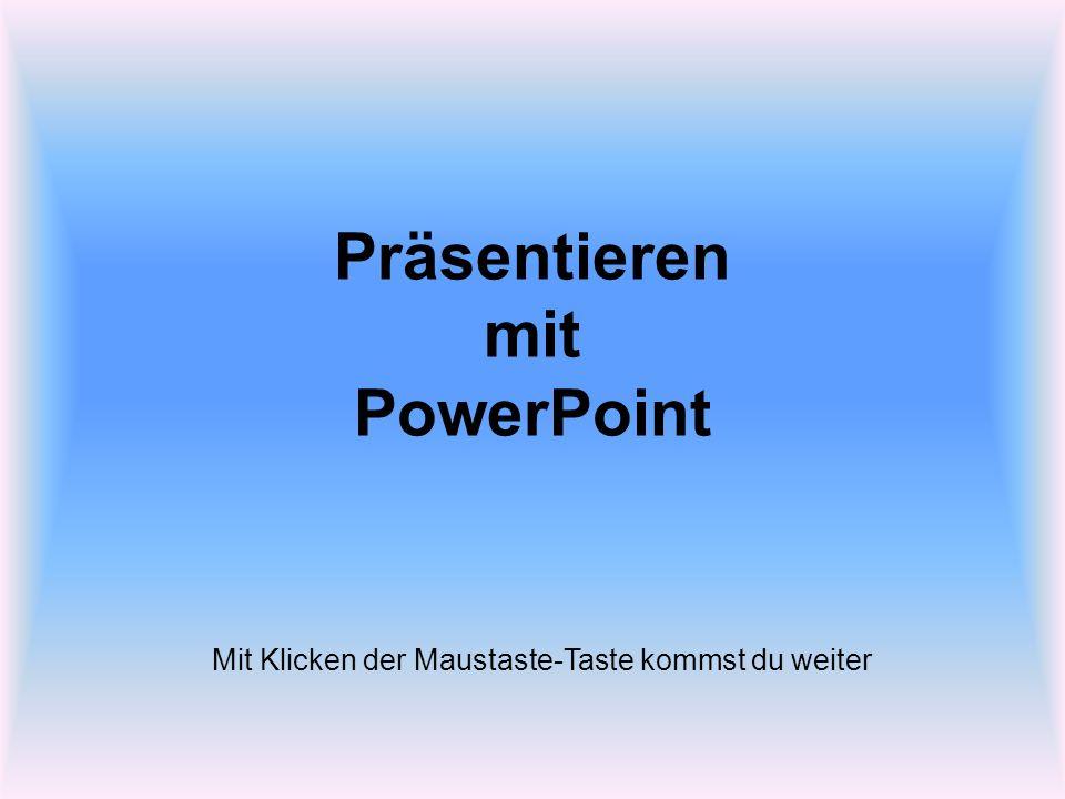 Zum Einstieg ein kurzes Spiel mit PowerPoint: Ich versuche deine Gedanken zu lesen.