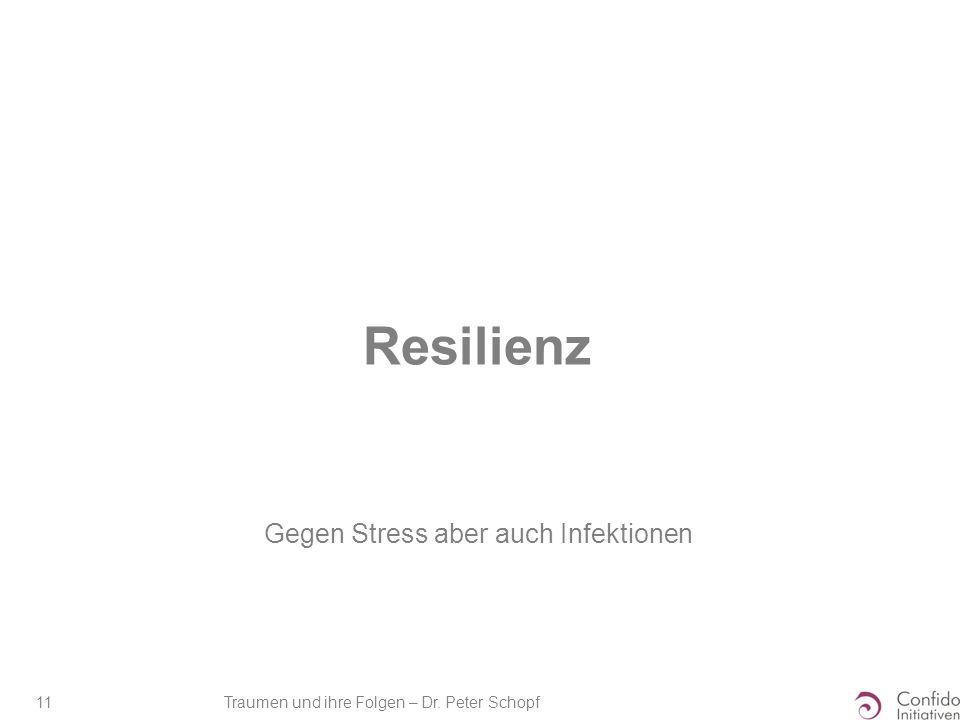 Traumen und ihre Folgen – Dr. Peter Schopf 11 Resilienz Gegen Stress aber auch Infektionen