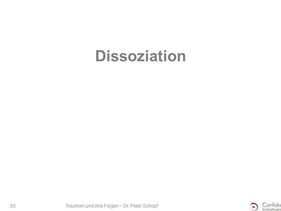 Traumen und ihre Folgen – Dr. Peter Schopf 50 Dissoziation