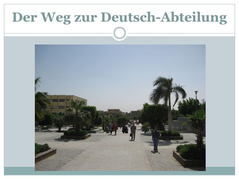Der Weg zur Deutsch-Abteilung