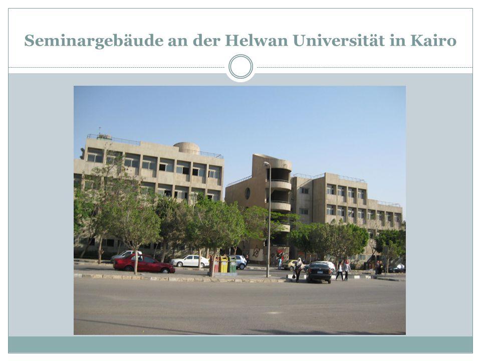 Seminargebäude an der Helwan Universität in Kairo