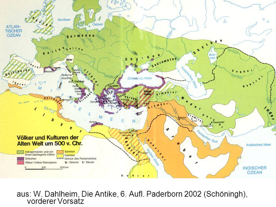 aus: W. Dahlheim, Die Antike, 6. Aufl. Paderborn 2002 (Schöningh), vorderer Vorsatz